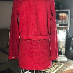 PrettyLittleThing Skirts - PRETTYLITTLETHING - Red Corduroy Set